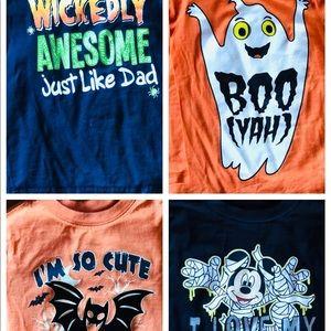 Boys Halloween Shirt Bundle 4 Disney Mickey Mouse
